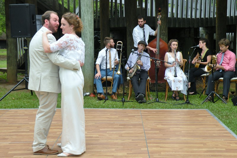 May 2016 First Dance with NOLA Jazz band playing the music