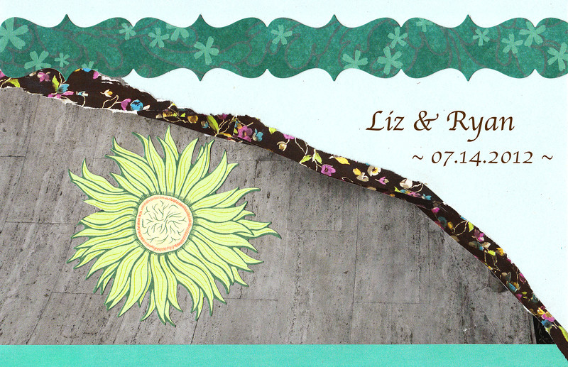 Teal & Brown - Wedding Invitation<br /> <br /> 5.5 x 8.5 Postcard with text on the back