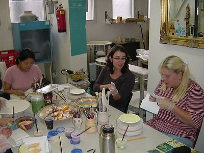 """Jacqueline hard at work. We didn't beleive her """"I am really not very creative!"""" anymore by that time"""
