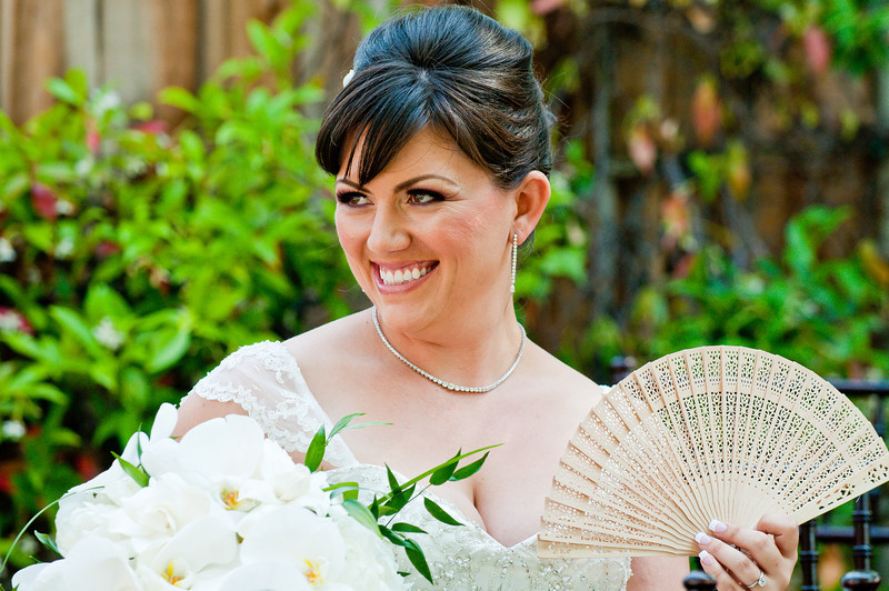 Wedding fan bride