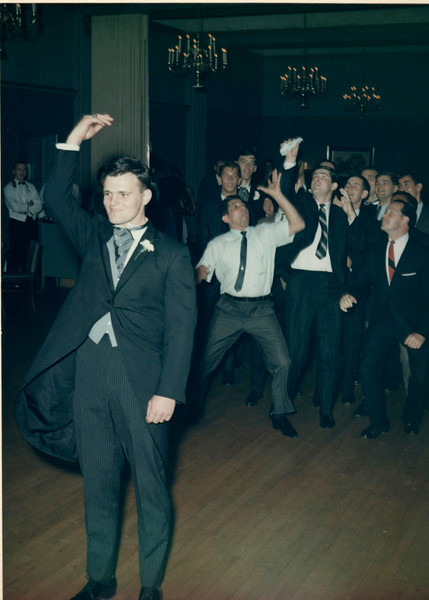 Suburban Hotel, Summit, NJThrowing the garter. Caught by
