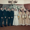 Suburban Hotel, Summit, NJ. Wedding party: left to right Pat Manszo, Harold Stoebling, Richie Jacobs, Henry (Matty) Matlosz, Ed Corrigan, Barbara (Shelly) Corrigan, Barbara Kunka, Lois (Sakowski) Brown, Marilyn Del Grosso, Patricia Corrigan.