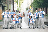 Super hero wedding groomsmen and groom