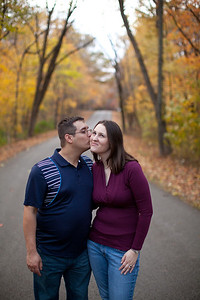 The engagement photo session for Mark Bates and Carolyn Beck in Charleston, Illinois on October 25, 2011. (Jay Grabiec)