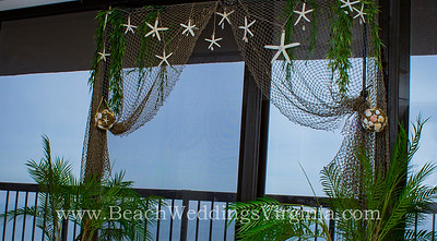 "the ""Beachy"" arch inside the Bayside Wedding Studio"
