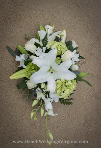 whites, greens in a cascading style