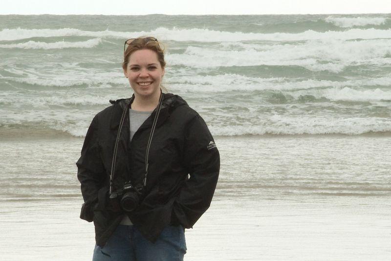 Sarah and the ocean