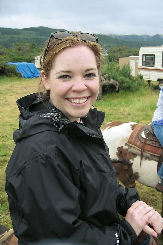 Sarah ready for our horseback ride.