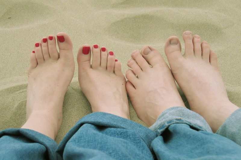 Feet in the Sand.  Our first night in Cannon Beach