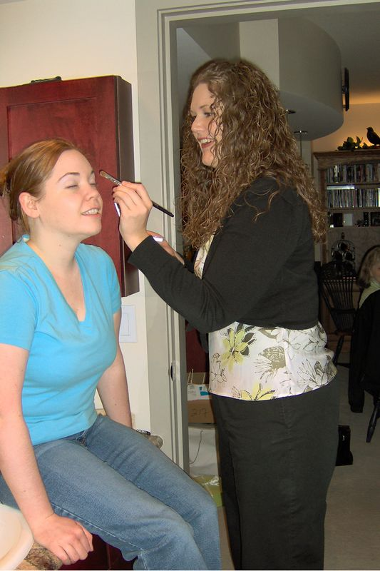 Wedding makeup practice with Jamie