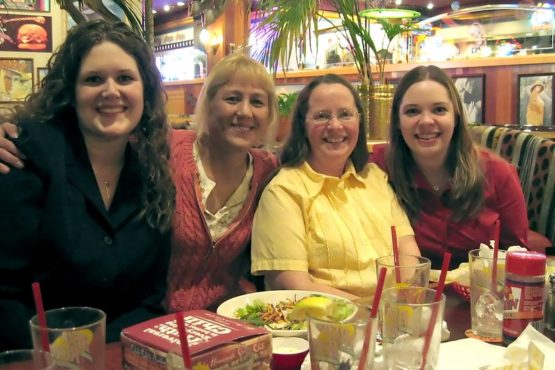 Jamie, Sydney, Margie, and Sarah<br /> Bridesmaid's Dinner - January 25, 2005