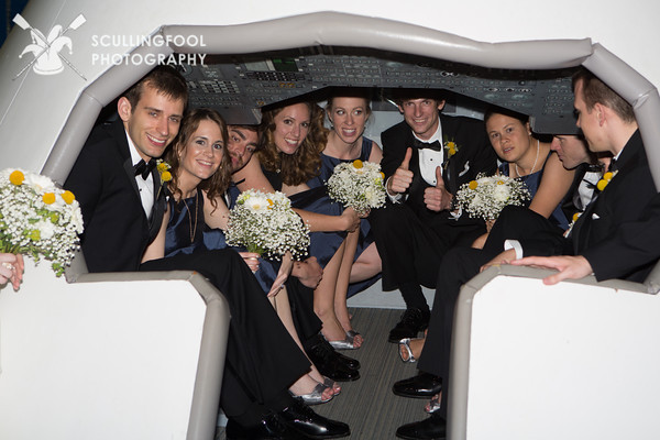 Berkley and Alex, bridal party