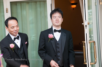 Father and brother of the bride.