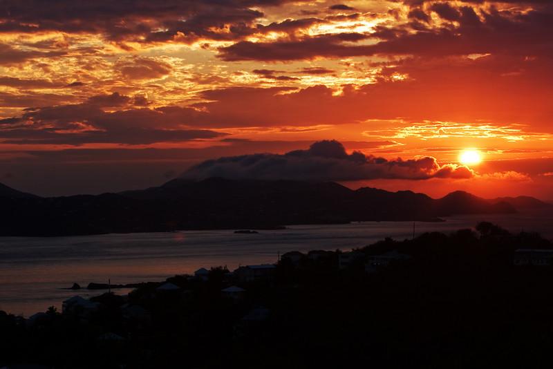 gorgeous sunset from Kalorama