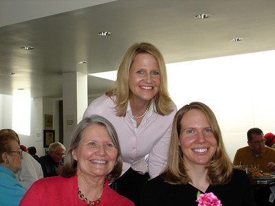 The three lovely ladies at the brideswomen's luncheon:  Marty, Colleen, and Carrie.