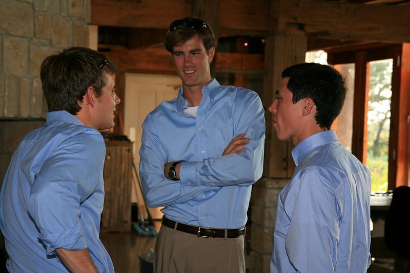 The blue shirt boys.
