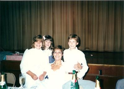 Katey, Catherine Debby, Edward III - Bob & Debby's wedding 9/87
