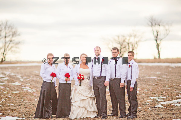 Bridal Party Outdoors