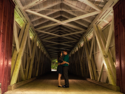 Brandi and Chris Engagement Pix McConnells Mill