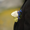 Grooms corsage detail
