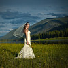 wide angle shot of bride