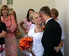 Kimberly & Brett immediately after the wedding ceremony.