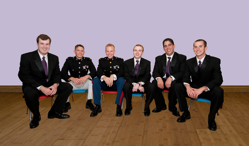 groomsmen seated