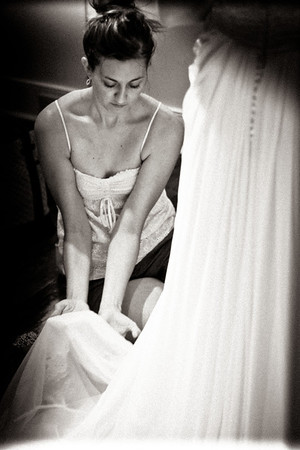 Beautiful Bridal Gown Fitting