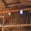 setting up the barn - ceiling lights