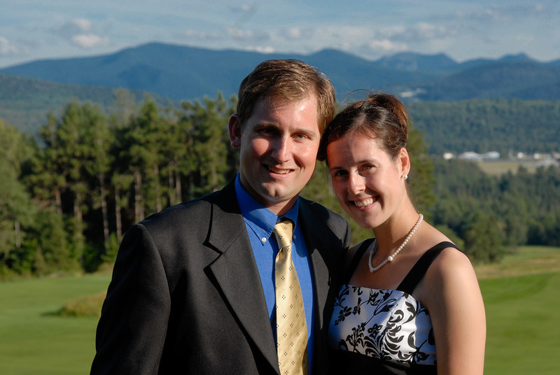 Bridget and Riches wedding. Lake Placid Aug 23, 2008