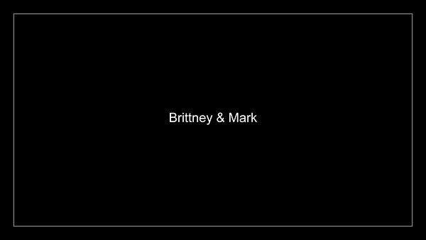 Brittney and Mark Wedding Show