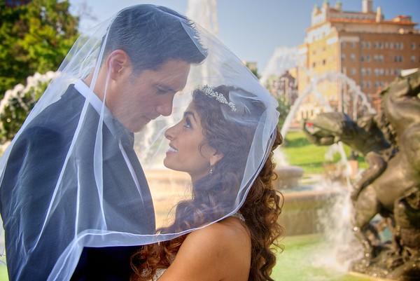 Bronson & Sheila Fountain Wedding Portraits