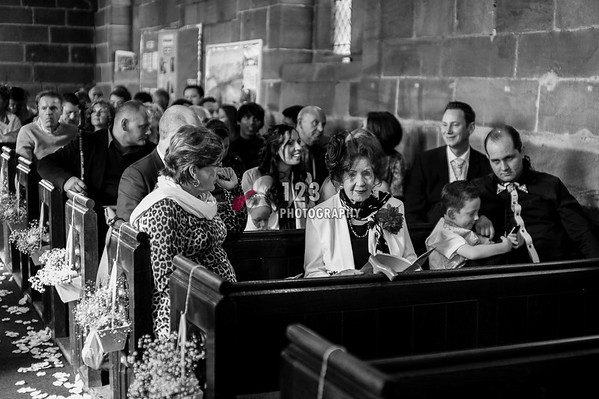 wedding photography All Saint's Church Crofton