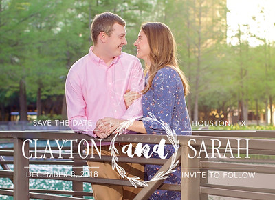 Clayton and Sarah Etsy Save the Date