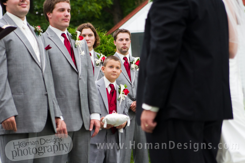 Little brother Ian keeps an eye on big sister and dad before the handoff.