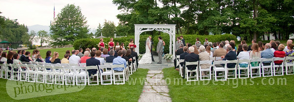 Beautiful ceremony on Lake Champlain, Vermont