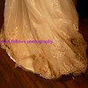 clay ombre wedding gown