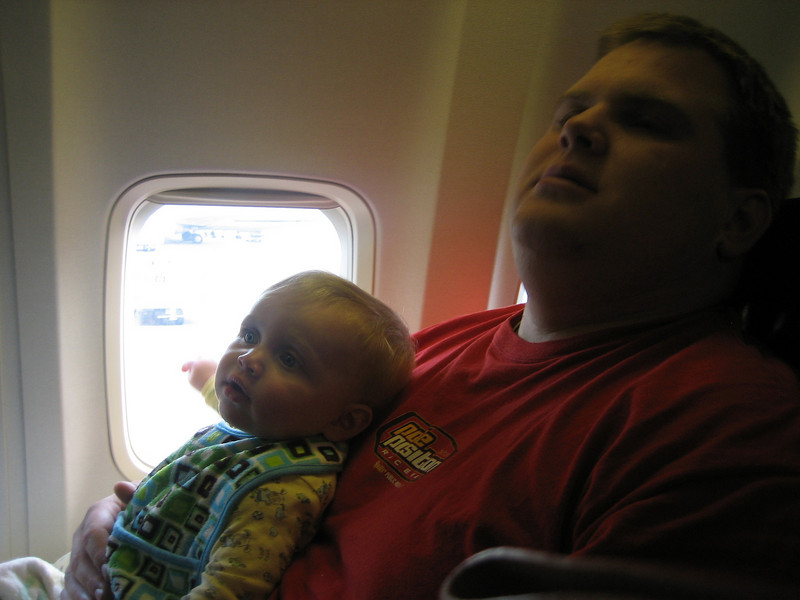 Ben's first time on a plane 6-19-09