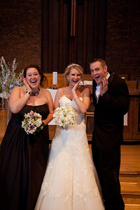 Paul and Kristy Carlstrom's wedding at United Methodist Church in New Lenox, Illinois on March 10, 2012. (Jay Grabiec)