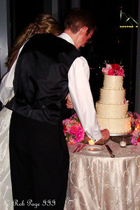 Carly and Tom cut their wedding cake - Atlanta, GA ... June 17, 2011 ... Photo by Rob Page III