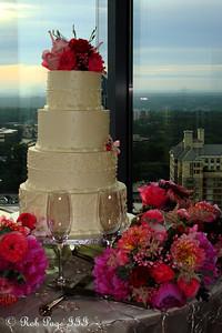 Tom and Carly's wedding cake - Atlanta, GA ... June 17, 2011 ... Photo by Rob Page III