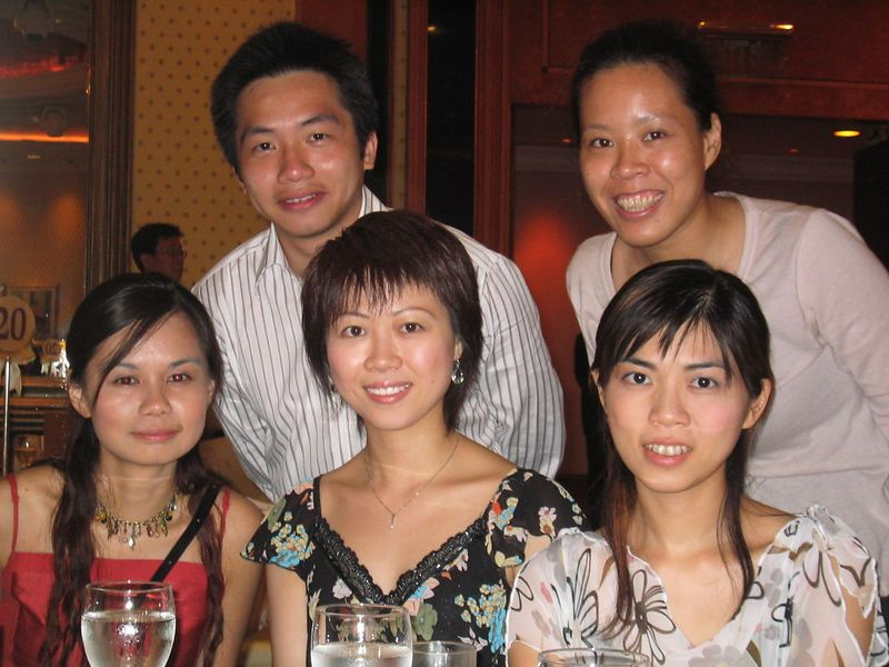 (Back): William, Joanne <p> (Front from left to right): Yan Yan, Charing, Pauline