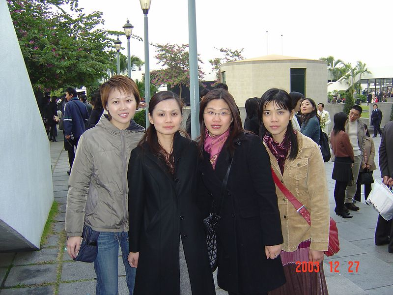 (From left to Right): Charing, Yan Yan, Rita, Pauline <p> Outside City Hall after registration ceremony
