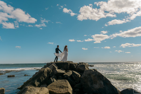 Caroline and Marcus Garcia, Brenton Point Newport RI