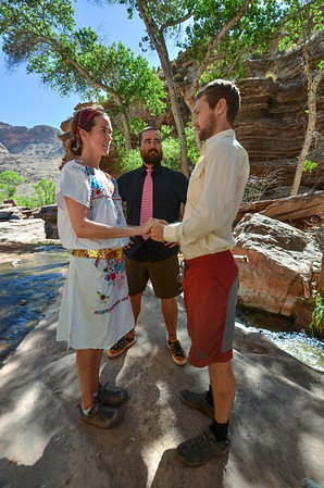 the Legal Ceremony at the Grand Canyon with Nate Wood presiding  6/23/2013
