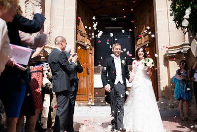 wedding ceremony walking up the aisle_©jjweddingphotography_com