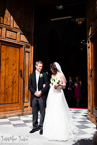 wedding ceremony walking up the aisle_©jjweddingphotography_com