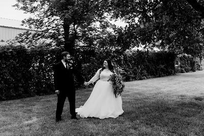01127©ADHPhotography2020--ChanceKellyHayden--Wedding--AUGUST1bw