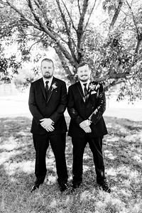 00596©ADHPhotography2020--ChanceKellyHayden--Wedding--AUGUST1bw