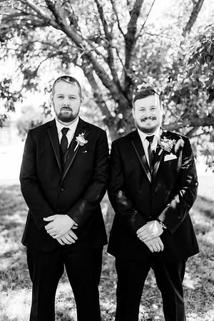00599©ADHPhotography2020--ChanceKellyHayden--Wedding--AUGUST1bw